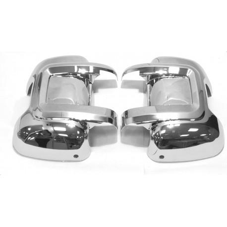 Накладка зеркала FIAT DUCATO хромированная (пластик) левая